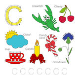 Pictures for letter C Royalty Free Stock Image