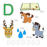 Pictures for letter D Royalty Free Stock Image