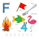 Pictures for letter F Stock Photography
