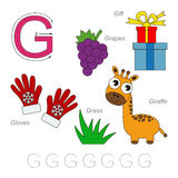 Pictures for letter G vector illustration