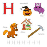 Pictures for letter H Stock Images