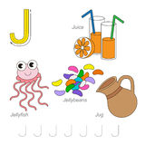 Pictures for letter J Stock Photo