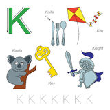 Pictures for letter K Stock Photos