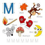 Pictures for letter M Royalty Free Stock Image
