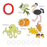 Pictures for letter O Stock Images