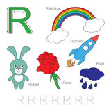 Pictures for letter R Stock Photo