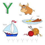 Pictures for letter Y Stock Images