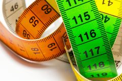 A tape measure as used by people who make their own clothes. royalty free stock photography