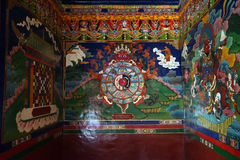 Pictures in monastery royalty free stock images