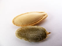 Pictures of the most beautiful and fresh pumpkin seeds Stock Images