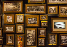 Pictures in Museum of football in Sao Paulo, Brazil Royalty Free Stock Image