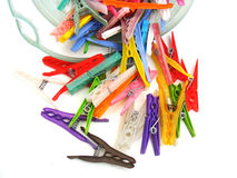 Pictures of pegs for hanging clothes Stock Image
