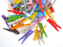 Pictures of pegs for hanging clothes Royalty Free Stock Photography