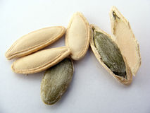 Pictures of pumpkin seeds suitable for logo and packaging design Royalty Free Stock Image