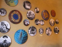 Pictures. In the room of one of Gaudi's houses Royalty Free Stock Photos