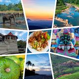 Sri Lanka travel collage stock image
