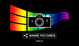 Pictures sharing concept Royalty Free Stock Photos
