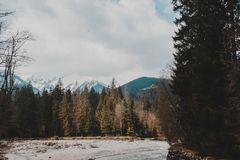 Tatry Mountains Zakopane Landscape. Pictures with snow took in tatry mountains. Beautiful landscape made in Morskie Oko stock photos