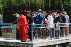 Pictures of the tourists Stock Image
