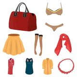 Pictures about types of women`s clothing.  Stock Photography