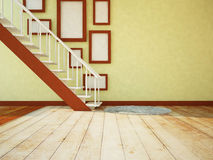 Pictures under the stairs Royalty Free Stock Images