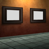 Pictures on a Wall Royalty Free Stock Photography