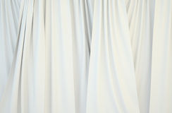 Pictures of white curtains. Can be used as texture, wallpaper or background Stock Photo