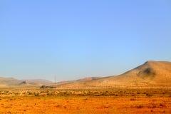 Picturesqe-Landschaft in der Wüste von Marokko stockfoto