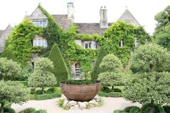 Picturesque Abbey House And Gardens, Wiltshire, Uk