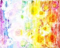 Picturesque abstract floral background made with color filters,. Watercolor composition Royalty Free Stock Photo