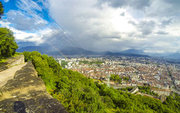 Picturesque aerial view of Grenoble, France Stock Images