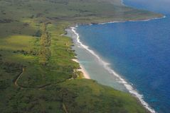 Picturesque aerial view of Tinian's coast, Northern Mariana Islands Stock Photos
