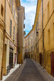 Picturesque alley in Aix-en-Provence, France Royalty Free Stock Images