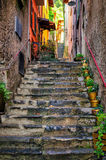 Picturesque alley in Bellagio Royalty Free Stock Image