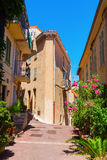Picturesque alley in Cannes, France Royalty Free Stock Images