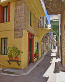 Picturesque alley, Chios island Royalty Free Stock Images