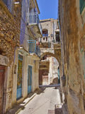 Picturesque alley, Chios island Stock Images