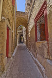 Picturesque alley, Chios island Royalty Free Stock Image