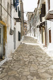 Picturesque alley in Greece Stock Image