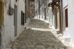 Picturesque alley in Greece royalty free stock photo