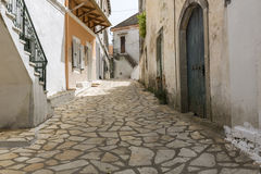 Picturesque alley in Greece Royalty Free Stock Photography