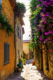 Picturesque alley in Grimaud, France royalty free stock photography