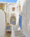 Picturesque alley in a Mediterranean island Stock Photography