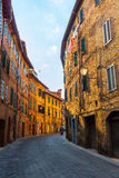 Picturesque alley in Siena, Italy Royalty Free Stock Photography