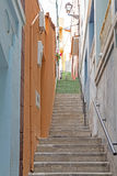 Picturesque alley in a village on Gomera island, Spain Stock Images