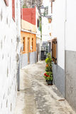 Picturesque alley in a village on Gomera island, Spain Royalty Free Stock Image