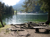 Picturesque Alpine lake royalty free stock photo