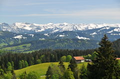 Picturesque alpine landscape in springtime Royalty Free Stock Photography