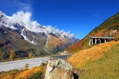 Picturesque alpine road Stock Photo