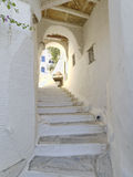 Picturesque alley in a Mediterranean island Royalty Free Stock Image